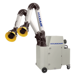 Portable filtration unit with two arms