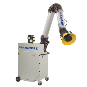 Portable filtration unit with one arm