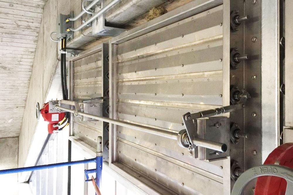 High-Pressure industrial dampers.